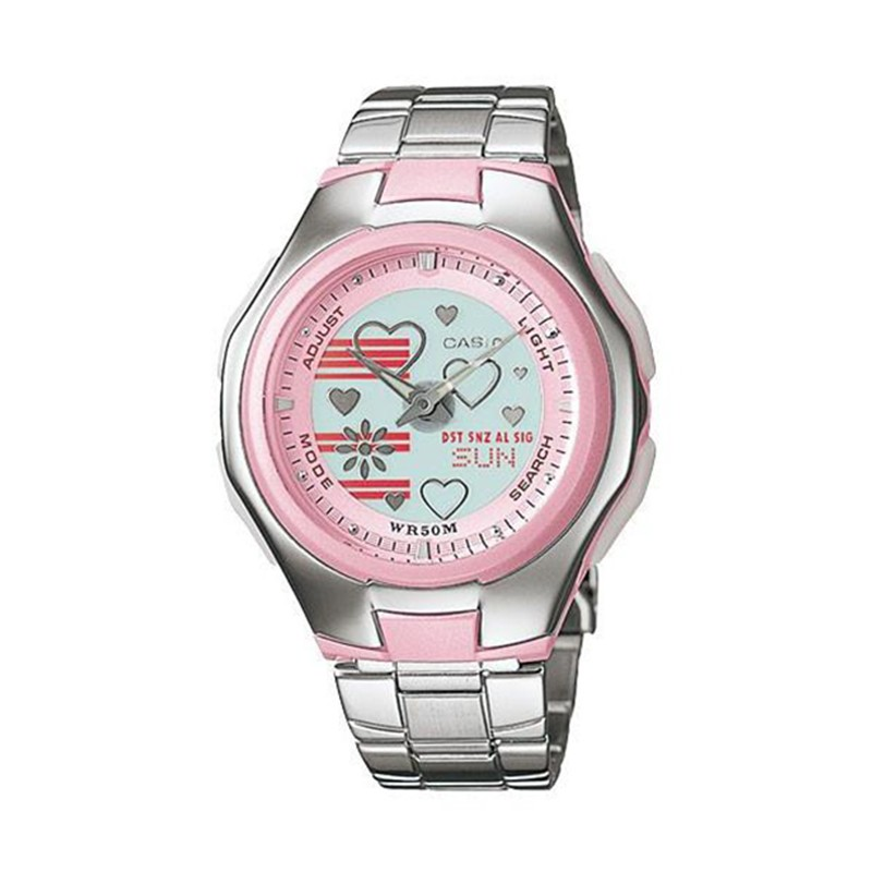 c4f870e20efa Reloj CASIO PopTone metálico original LCF-10D-4AV para mujer
