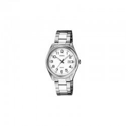 42cb254369cb Reloj CASIO 1302D-7B metálico plateado original mujer y hombre
