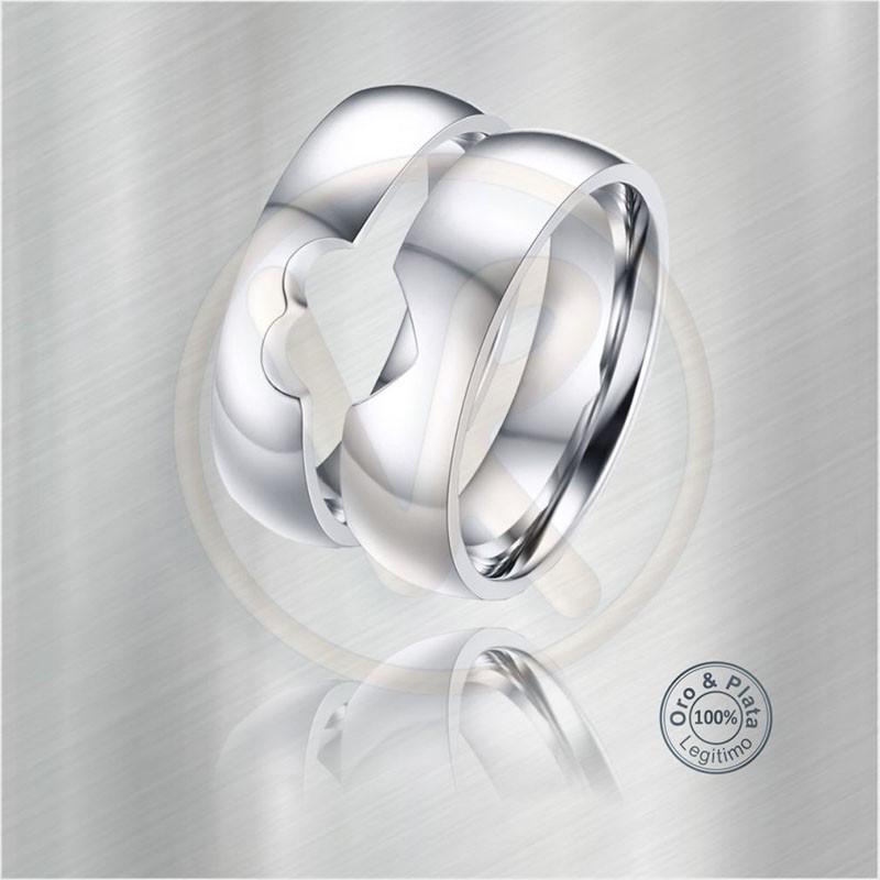 68d035fd5df9 Argollas Andrómeda Matrimonio compromiso 3D Oro o Plata para mujer y ...