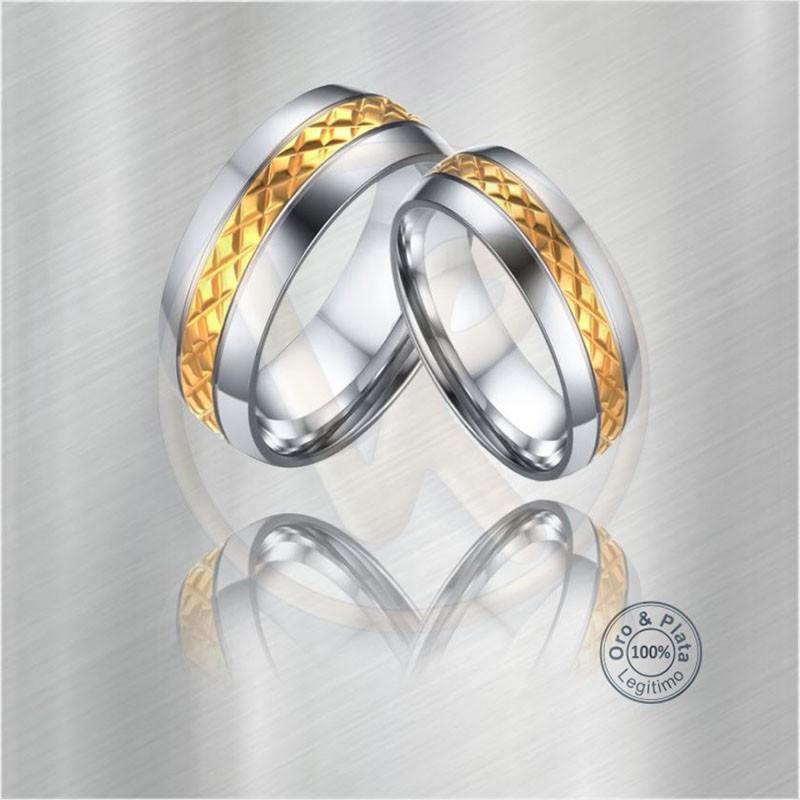 01637bf7b2ad Argollas Austral Matrimonio Compromiso Oro Plata para mujer y para ...