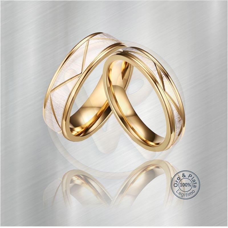 76493d5c2abf Argollas BOREAL Matrimonio Compromiso Oro Plata para mujer y para hombre
