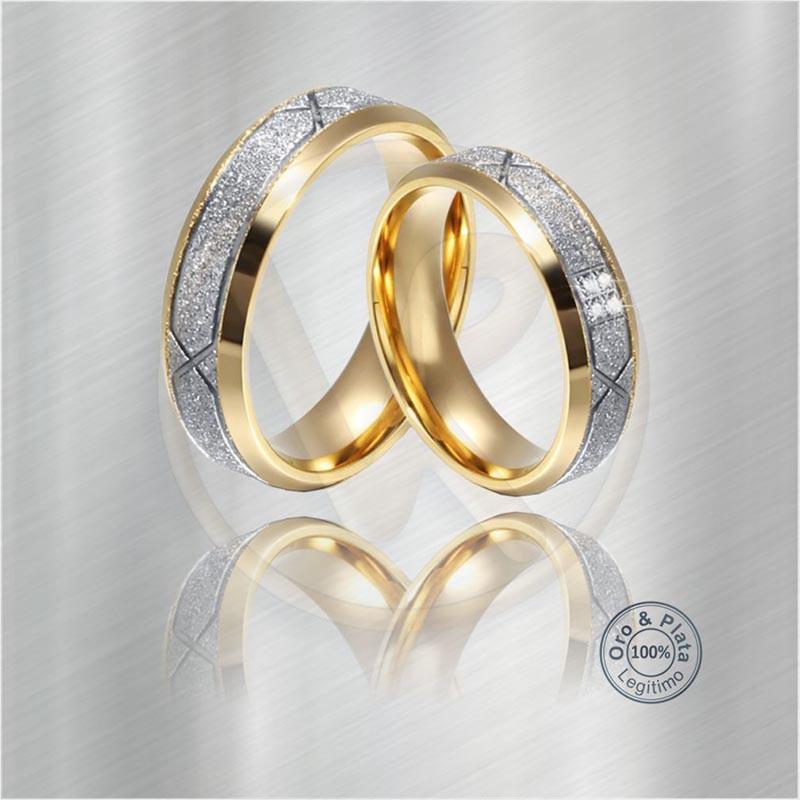 d89d179ee4e6 Argollas Camaleón Matrimonio Compromiso Oro Plata para mujer y para ...
