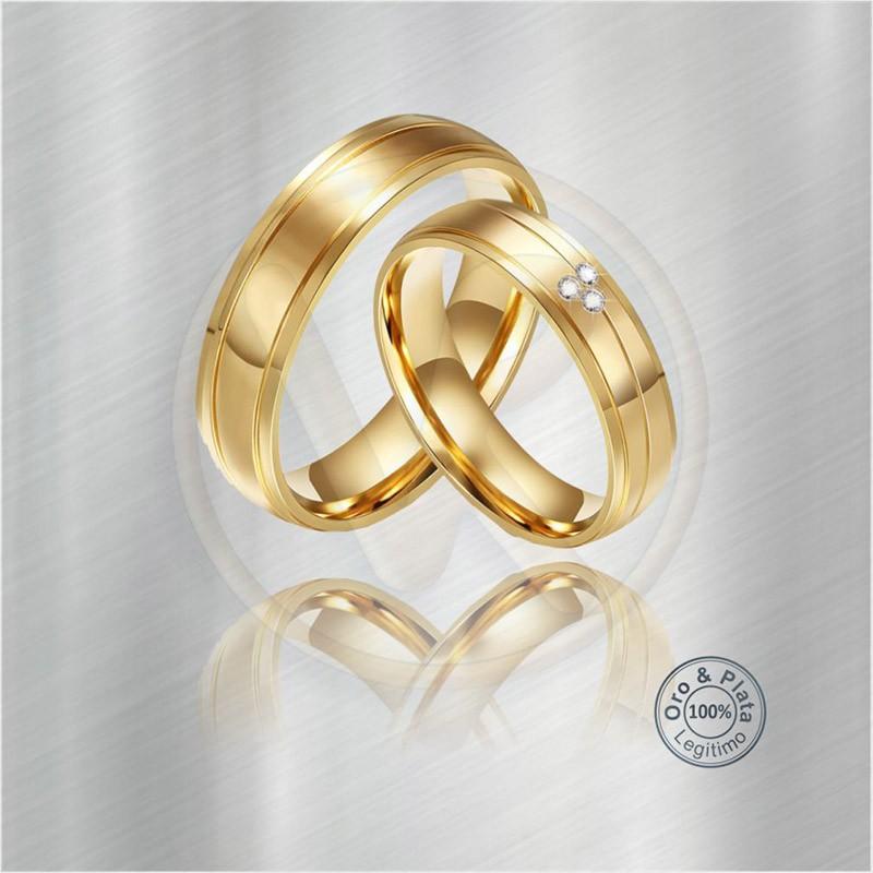 71be88a54a26 Argollas Matrimonio compromiso Cáncer Oro o Plata Zircón o Diamante ...