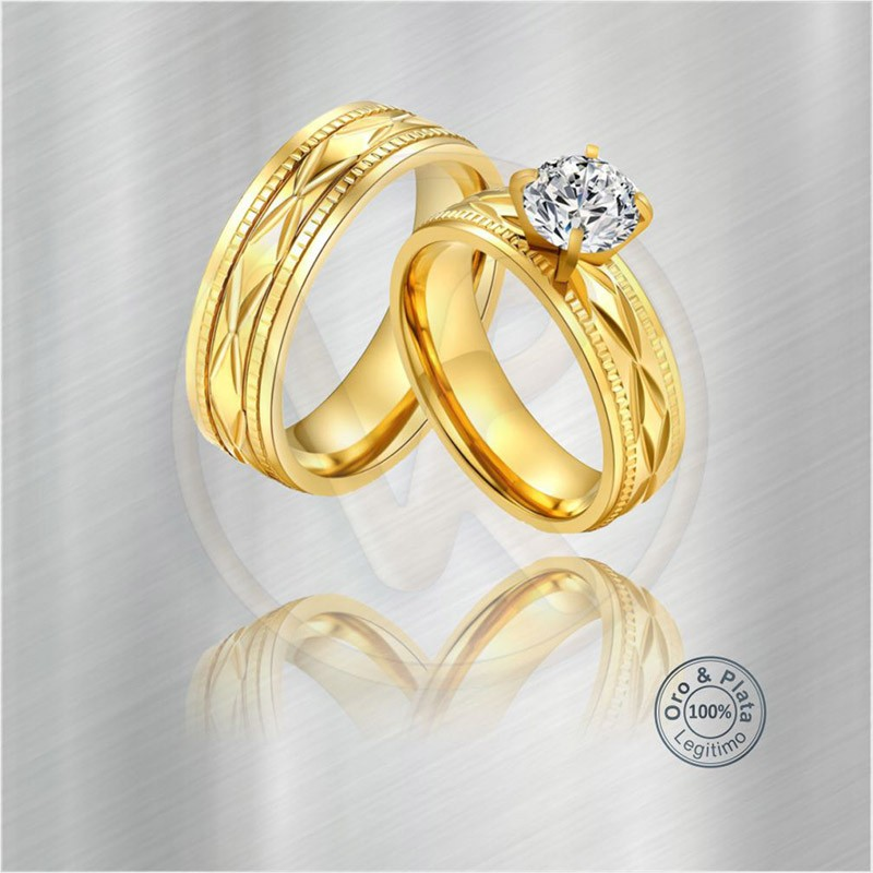 Argollas Matrimonio Compromiso Capricornio Diamante Oro O Plata Para