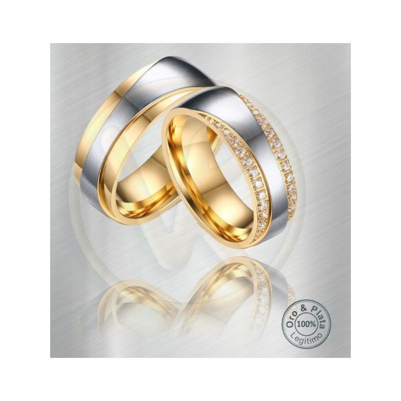 56e54f4e615a Argollas Fénix Matrimonio Compromiso Oro Plata para mujer y para hombre