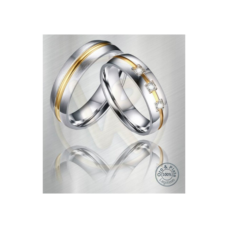 f9062e47ccd28 Argollas De Matrimonio Oro O Plata   Argollas libra matrimonio zircón o diamante  oro plata