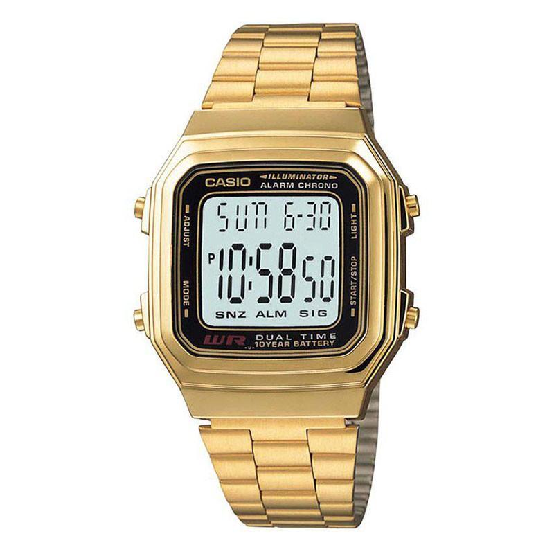 78174a33318c Reloj CASIO retro metálico original A178WGA para mujer y para hombre