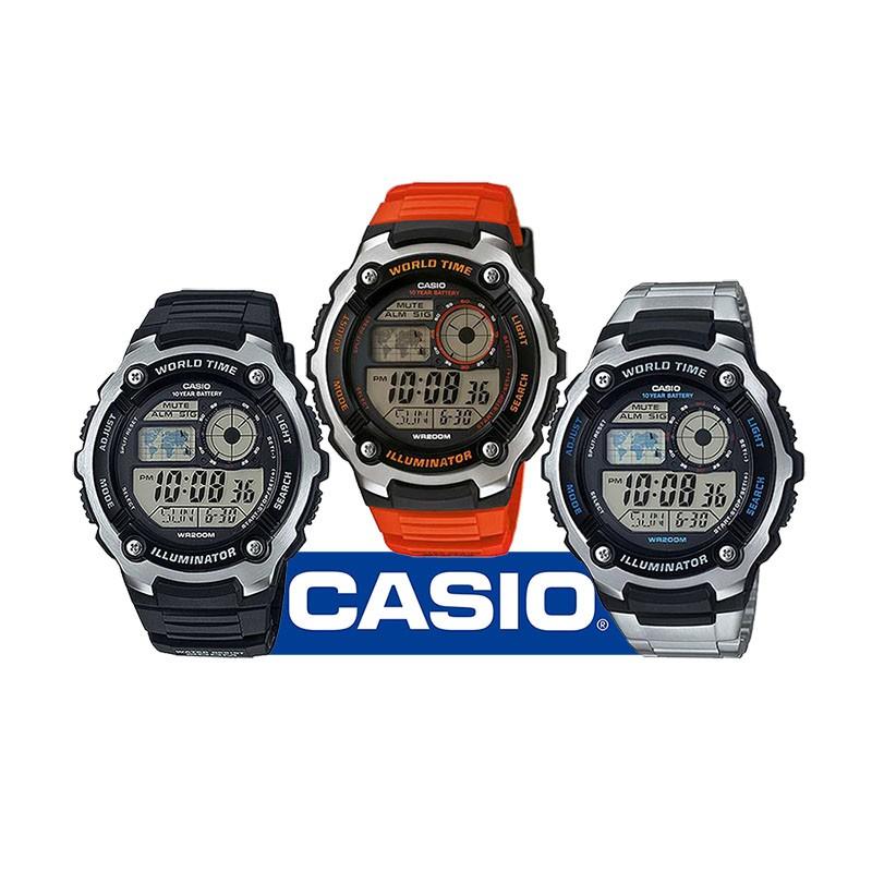 6e5332d4adc1 Reloj CASIO AE2100W Illuminator con extraordinario diseño inspirado en la  cabina de un avión