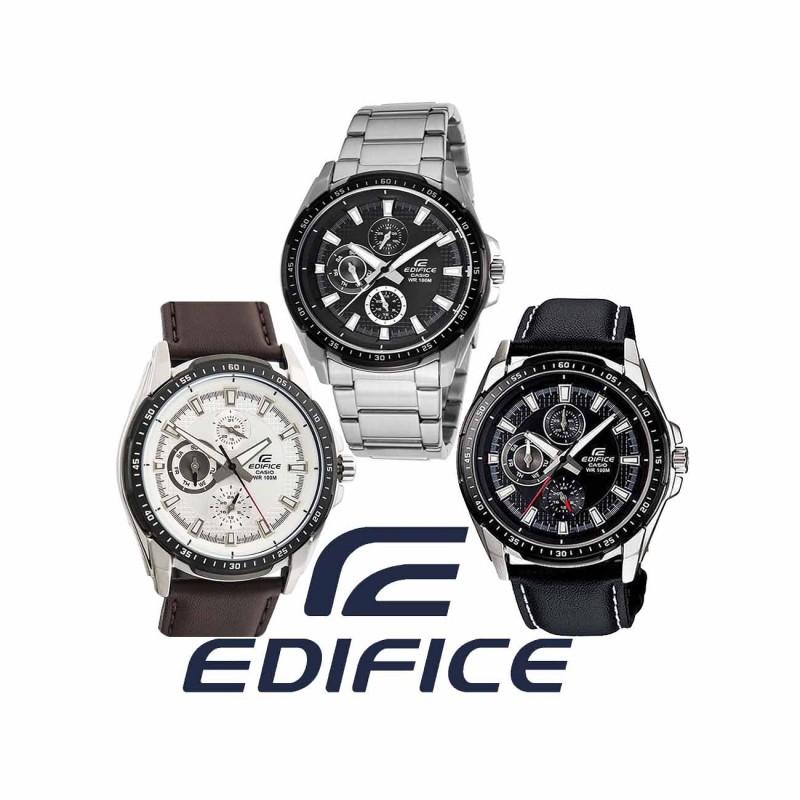 541f76b2767f Reloj CASIO Edifice Multiagujas original EF336 para jóvenes y hombres