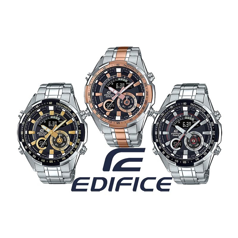 520b6e6aed32 Reloj CASIO Edifice Cronógrafo original ERA600 para jóvenes y hombres