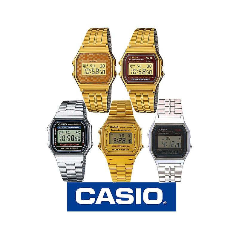 222988e92190 Reloj CASIO retro metálico original A158W y A168W para mujer y para ...