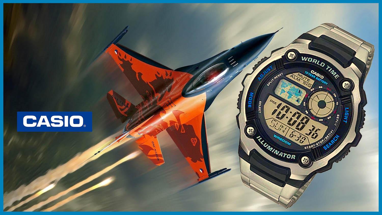 e4a9b78c8805 Reloj CASIO Cockpit original AE2100W para jóvenes y hombres en 3 colores